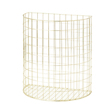 Rice Gold Half Circle Shaped Wire Basket BSWIR-2ZGO.