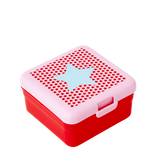 Rice Kids Small Lunch Box With Girl Star Print Red BXLUN-SSTARG
