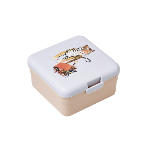 Rice Kids Small Lunch Box With Retro Tiger Print BXLUN-STIG
