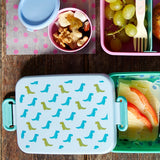 Rice Large Lunchbox With Divider Dinosaur Print BXLUN-DINO.