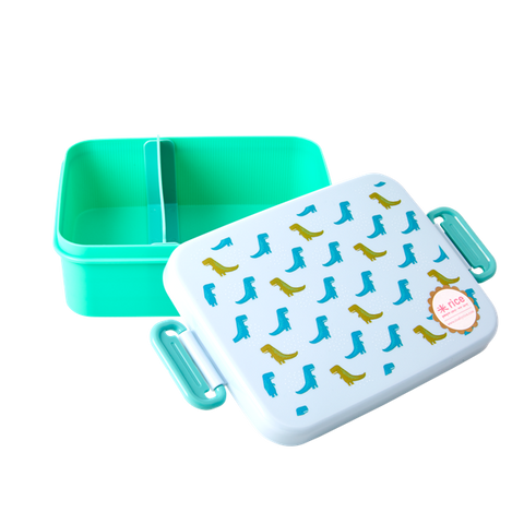Rice Large Lunchbox With Divider Dinosaur Print BXLUN-DINO