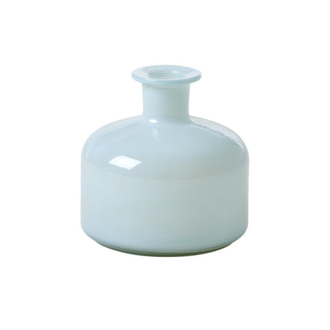 Rice Medium Plump Glass Vase In Mint GLVAS-MPLUMI
