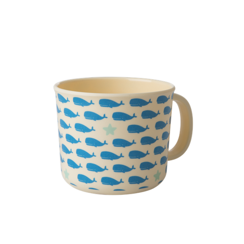 Rice Melamine Baby Cup With Whales And Starfish Print BABCU-BSEA