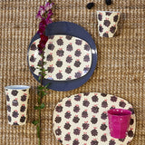 Rice Melamine Cup With Blackberry Print MELCU-BLAB