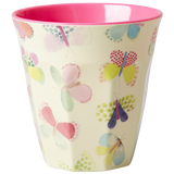 Rice Melamine Cup With Butterfly Print MELCU-BUT