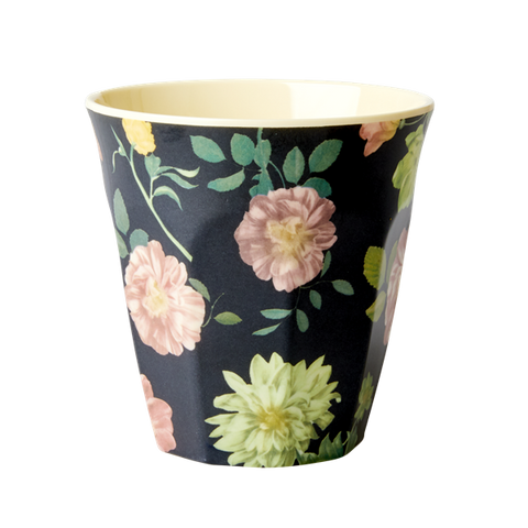 Rice Melamine Cup With Dark Rose Print MELCU-DARO