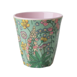 Rice Melamine Cup With Lupin Print Two Tone Medium MELCU-LUPI