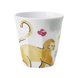 Rice Melamine Cup With Monkey Print MELCU-MONK
