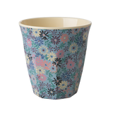 Rice Melamine Cup With Small Flower Print Two Tone MELCU-SMFL