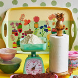 Rice Melamine Tray With Flower Display Print METRA-FLDIS