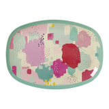 Rice Rectangular Melamine Plate With Splash Print MELPL-SPLASH