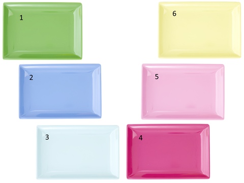 Rice Rectangular Melamine Sushi Tray in Assorted Colors