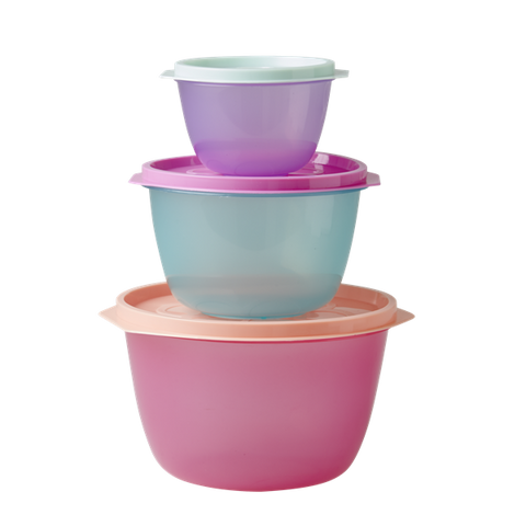 Rice Round Food Containers In Assorted Colours HSFBX-3ZSTOUXC