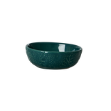 Rice Small Embossed Jade Stoneware Dipping Bowl CEDBW-EMJA