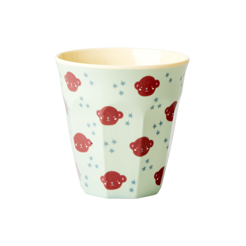 Rice Small Melamine Cup With Monkey Print KICUP-MON