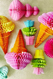 Rice Ice Cream Honeycomb Hanger Yellow or Pink