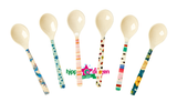Rice melamine teaspoon in 6 assorted colours
