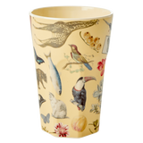 Rice tall melamine cup with art print MELCU-LARTCR