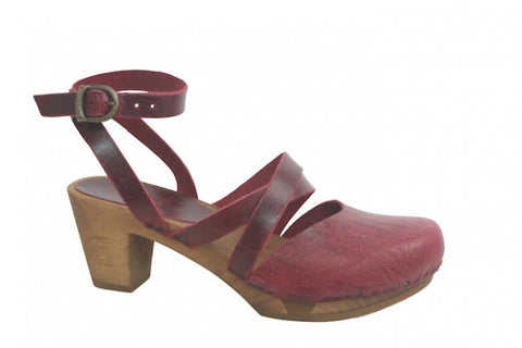 Sanita wood Tonje flex Sandal Dark Red 459313-4