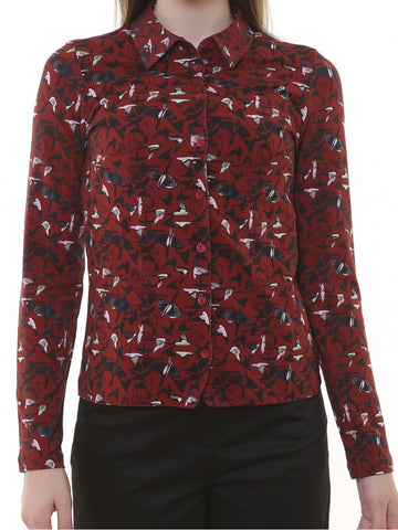 Who's That Girl Blouse Daisy Birdy Bordeaux 192.13.066-082