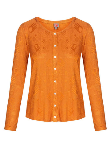 Who's That Girl Uni Blouse Barabas Cognac 182.16.014-603
