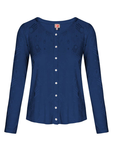 Who's That Girl Uni Blouse Barabas navy 182.16.014-307