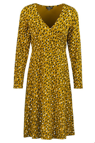 Zilch Dress Cross Paint Mustard 92VIK40.079P-772