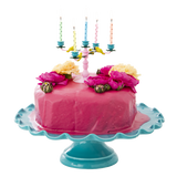 Rice Pink Candelabra Cake Decoration with 10 Candles