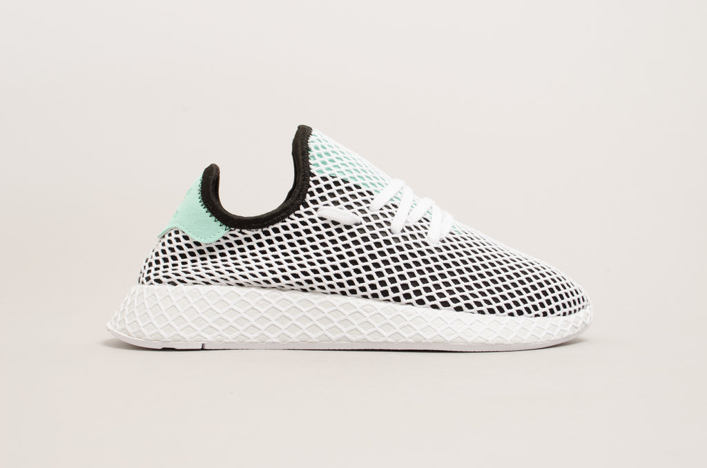 a89f96bcb Adidas Deerupt Runner Black White Green B28076 ...