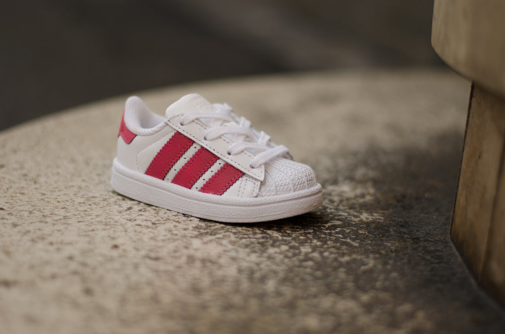 Adidas Superstar I Footwear White/Pink CQ2858