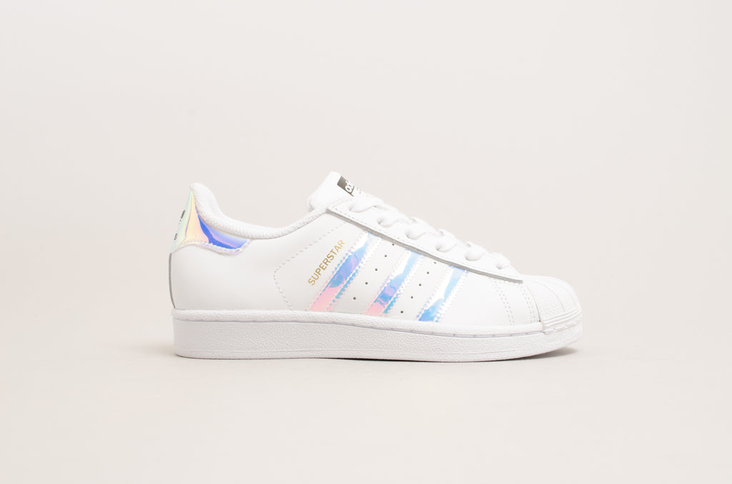 Adidas Superstar Junior ( White / Iridescent ) AQ6278