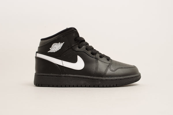 Air Jordan 1 Mid (GS) Black / White 554725-049