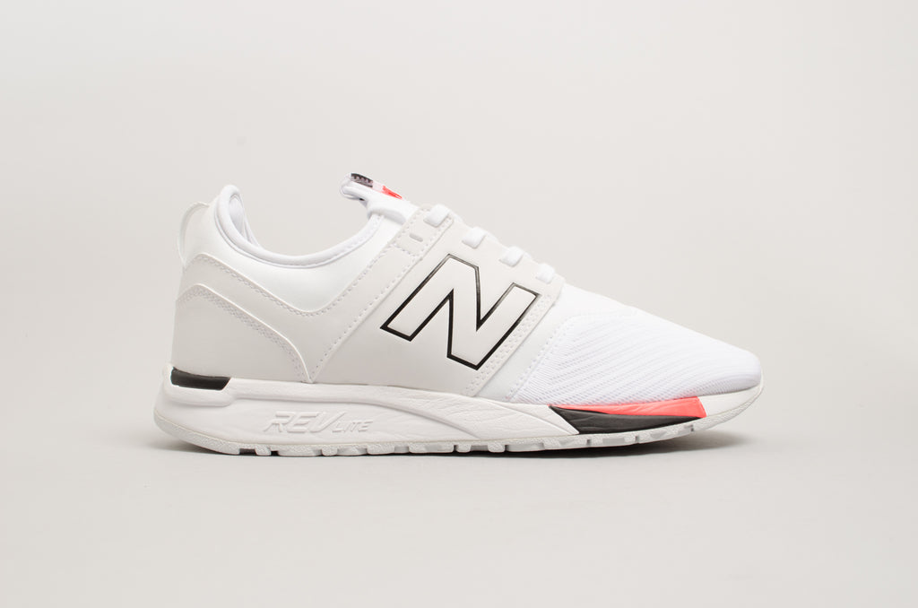 New Balance 247 White Black Solar Red MRL247WR