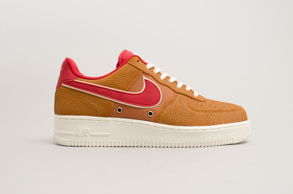 the best attitude 8f49c 3248b Nike Air Force 1  07 LV8 Tawny Brown Red Basketball ...