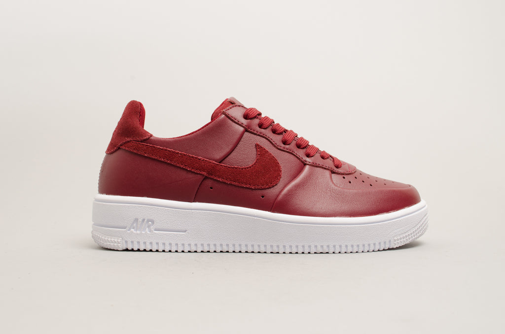 Nike Air Force 1 Ultraforce Leather Team Red Burgundy 845052-600 ... 3c2962280
