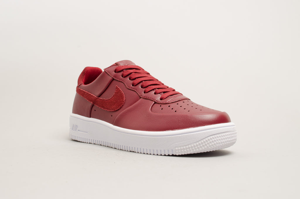 ... Nike Air Force 1 Ultraforce Leather Team Red Burgundy 845052-600 ... ed77ec1b7