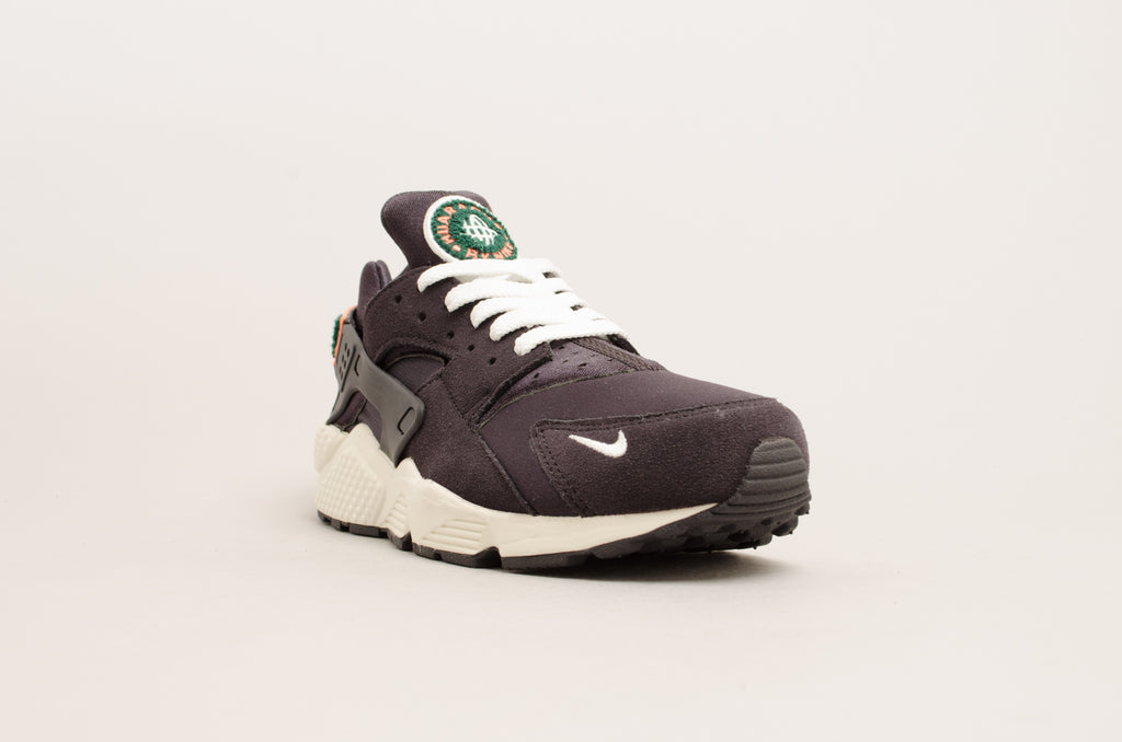 Nike Air Huarache Run Premium ( Black / Green / Sail / Orange ) 704830-015