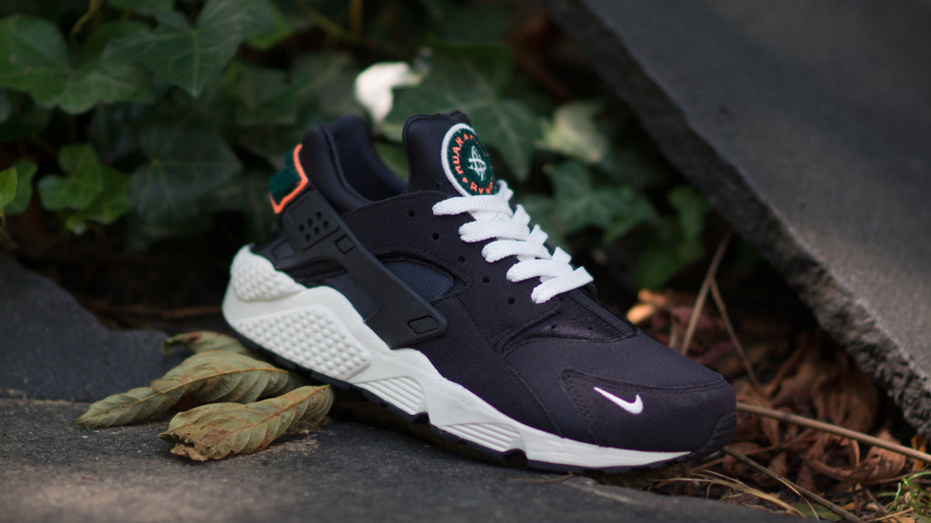 ... Nike Air Huarache Run Premium ( Black   Green   Sail   Orange ) 704830- 345cc5a81
