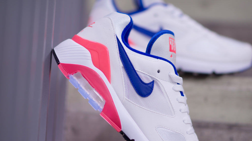 "Nike Air Max 180 ""OG"" White/Ultramarine-Solar Red 615287-100"