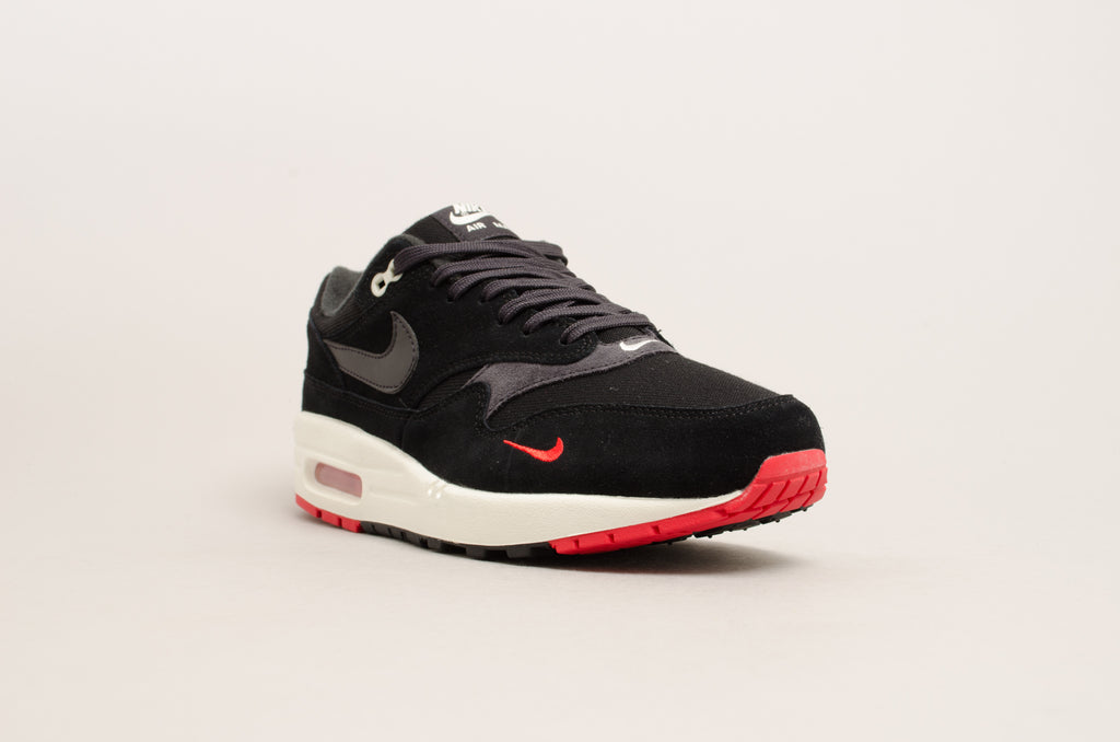 Nike Air Max 1 Premium ( Black / Red / Sail ) 875844-007