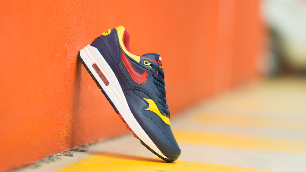 Nike Air Max 1 Premium Navy/Gym Red-Vivid Sulfur-White 875844-403