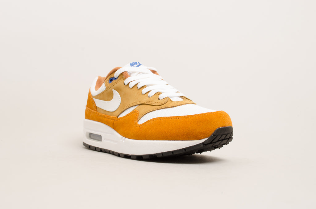Nike Air Max 1 Premium Retro ( Dark Curry / White / Blue ) 908366-700