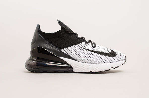 Nike Air Max 270 Flyknit ( White / Black ) AO1023-100