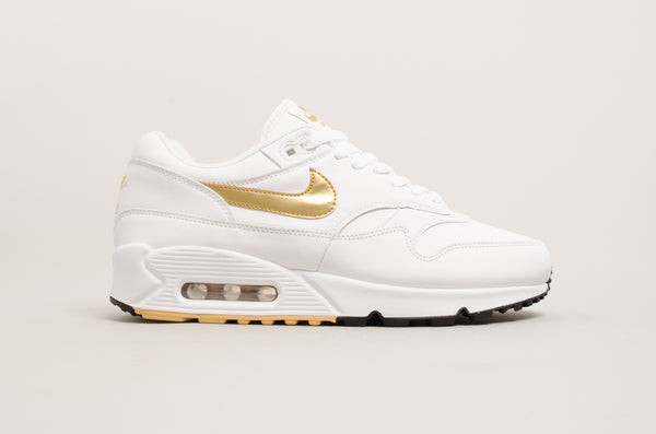 Nike Air Max 90/1 ( White / Metallic Gold ) AJ7695-102