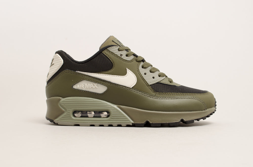 7a8daff04036 Nike Air Max 90 Essential Cargo Khaki Green Black 537384-309 ...