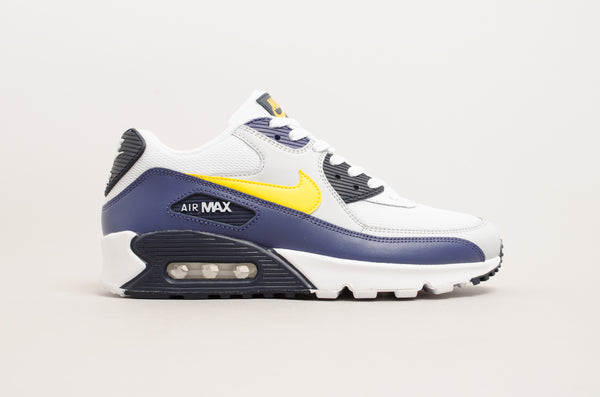 Nike Air Max 90 Essential ( White / Tour Yellow - Blue ) AJ1285-101