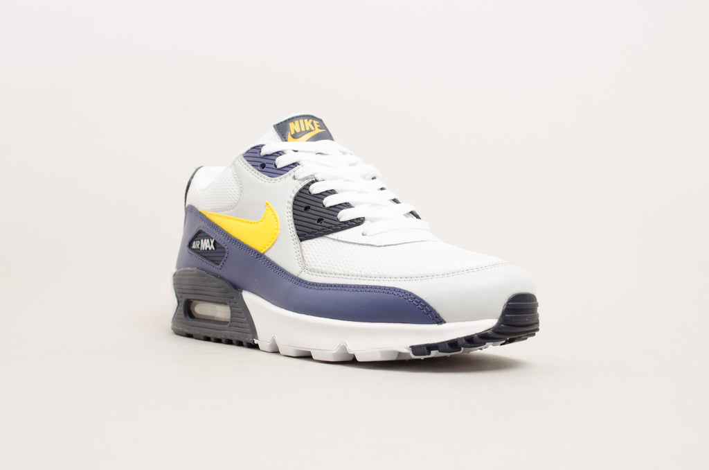Nike Air Max 90 Essential White Yellow Blue Size Us 7