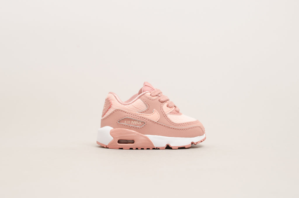 Nike Air Max 90 Special Edition Mesh (Toddler) Rust Pink / White 880306-601