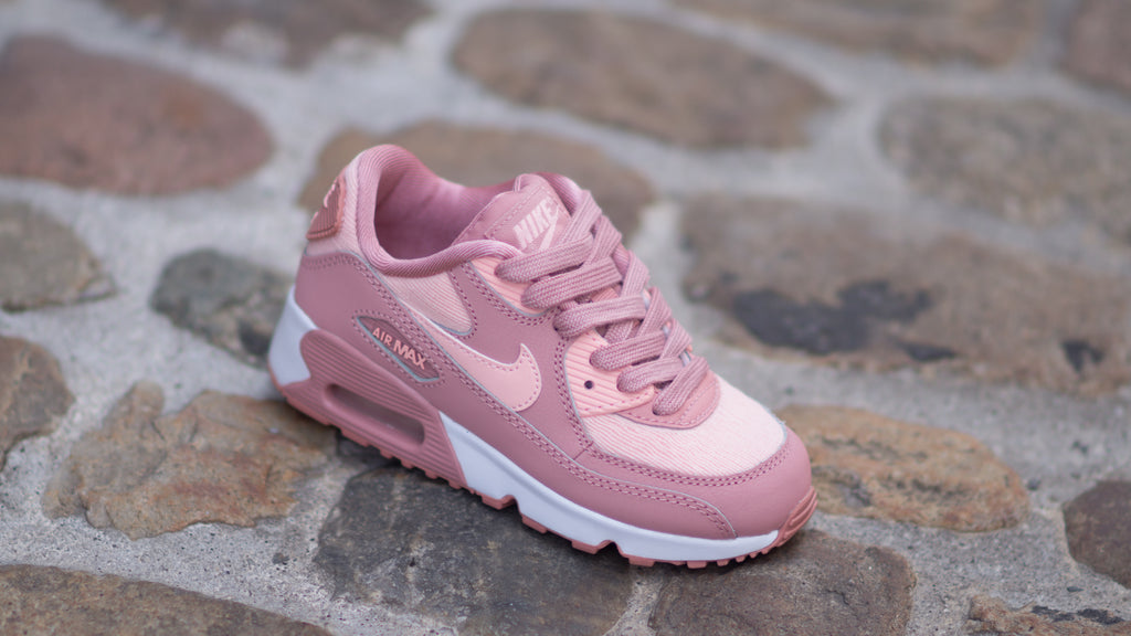 finest selection cff7d 414e8 ... Nike Air Max 90 Special Edition Mesh (Pre-school) Rust Pink   White