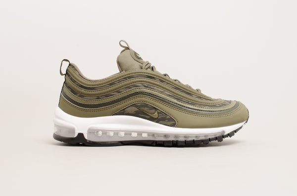 "Nike Air Max 97 "" Tiger Camo "" ( Medium Olive / White - Black ) AQ4132-200"